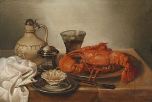 Jan Pauwel The Younger Gillemans - Quiet life with lobster