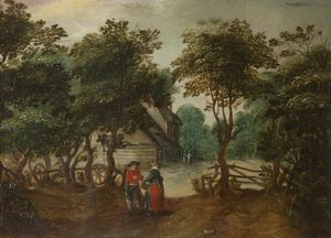 Jan The Younger Brueghel - A Cottage among Trees