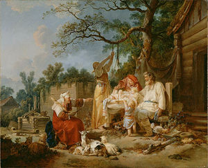 Jean Baptiste Le Prince - The russian cradle
