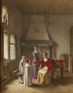 Order Reproductions | The offering by Jean Baptiste Mallet (1759-1835, France) | WahooArt.com