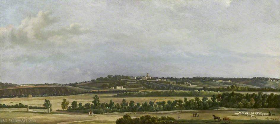 The Heights of Sannois Seen from the Plain of Argenteuil by Joseph Pierre Xavier Bidauld (1758-1846)