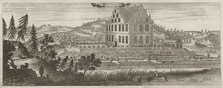 Häringe castle according Suecia antiqua et hodierna by Jean Le Pautre (1618-1682, France) | Art Reproductions Jean Le Pautre | WahooArt.com