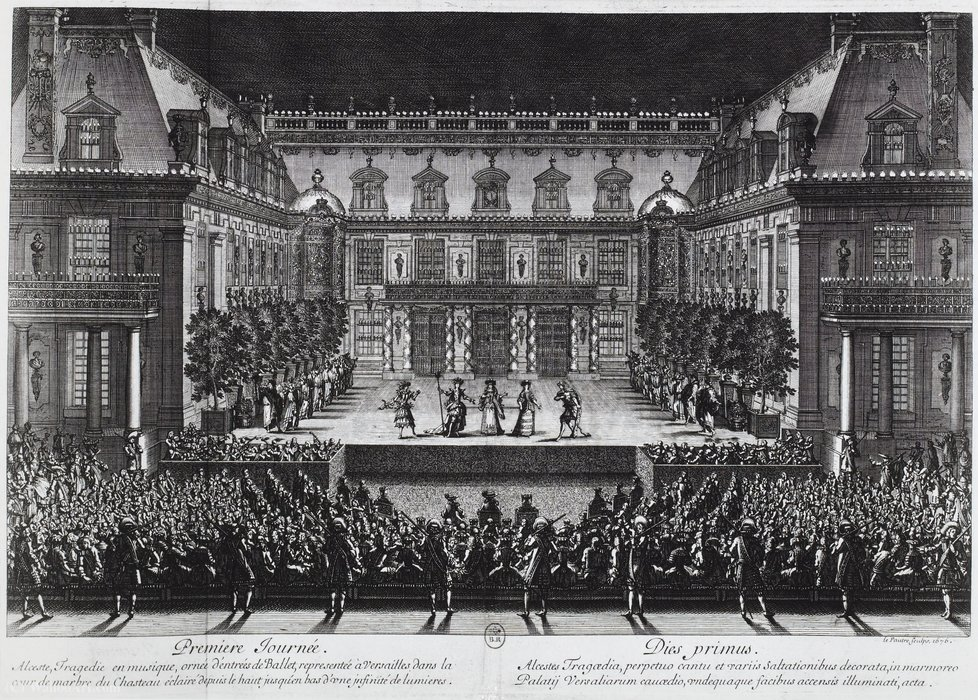Performance of Lully's opera Alceste by Jean Le Pautre (1618-1682, France)