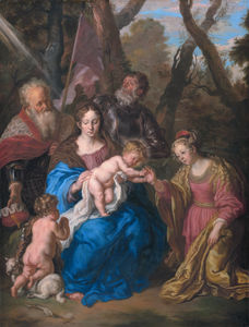 Joachim Von Sandrart - The mystic marriage of St. Catherine and Sts. Leopold and William