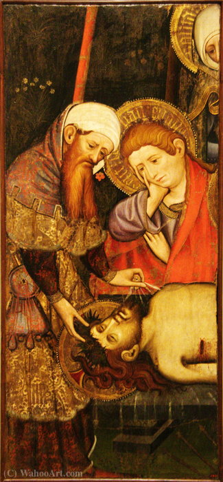 Order Famous Paintings Reproductions : Plany on Crist cos mort. by Joan Mates (1370-1431, Spain) | WahooArt.com