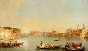 Johan Richter (Giovanni Richter) - View of san giorgio maggiore seen from the south, venice