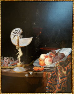 Johann Georg Hinz - Still Life with Nautilus Cup and Fruit