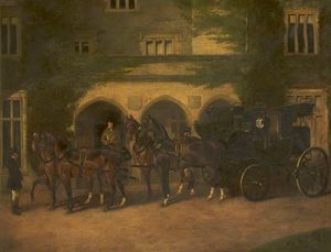 John Alfred Wheeler - Coach and Four Horses