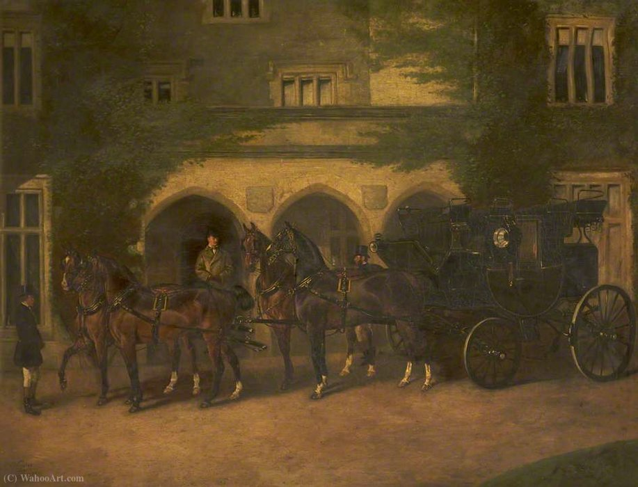 Coach and Four Horses by John Alfred Wheeler (1821-1903, United Kingdom)
