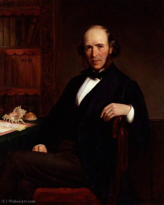 Herbert spencer by John Bagnold Burgess (1829-1897, United Kingdom)
