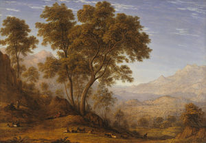 John Glover - My last view of Italy, looking from the alps over Suza