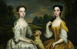 Anne and Mary Tonson by John Vanderbank  (order Fine Art painting copy John Vanderbank)