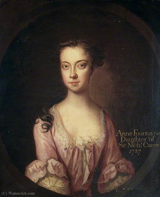 Anne fountayne by John Vanderbank (1694-1739, United Kingdom)