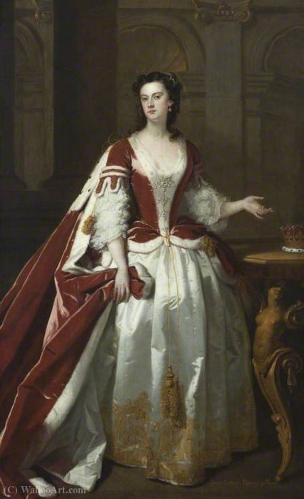 Lady Grace Carteret (1713–1755), Countess of Dysart by John Vanderbank (1694-1739, United Kingdom)