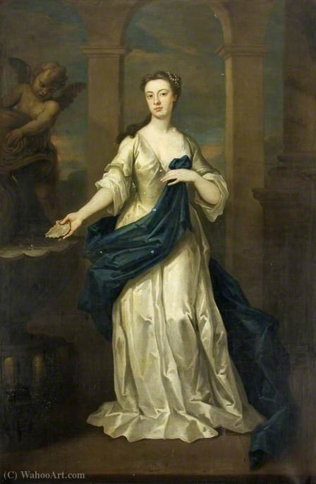 Maria Heathcote, née Eyles (1707–1792), at the Time of Her Marriage to George Heathcote by John Vanderbank (1694-1739, United Kingdom)