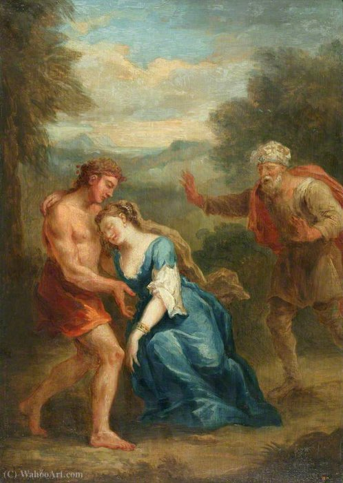 Scene from 'Don Quixote' Zoraida Pretending to Swoon in the Garden by John Vanderbank (1694-1739, United Kingdom)