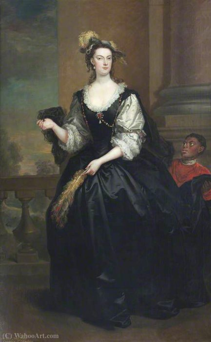 The honourable anne howard (d.1775), lady yonge by John Vanderbank (1694-1739, United Kingdom)