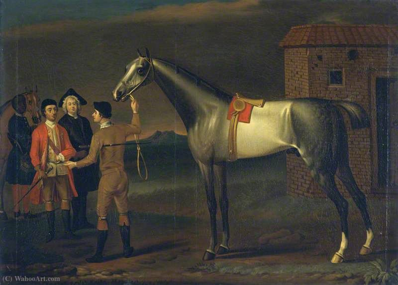 `Lamprey` (A Racehorse) by John Wootton (1682-1764, United Kingdom) | Art Reproduction | WahooArt.com