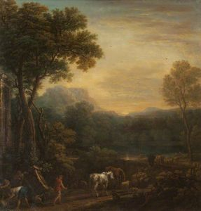 John Wootton - A Classical Landscape with Animals