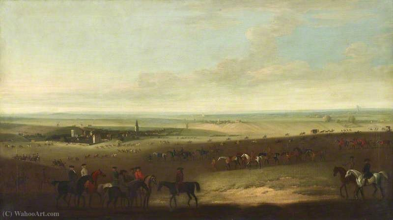 Horses Exercising on Newmarket Heath by John Wootton (1682-1764, United Kingdom) | Museum Quality Reproductions | WahooArt.com