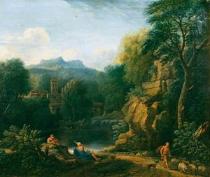 John Wootton - Italianate landscape