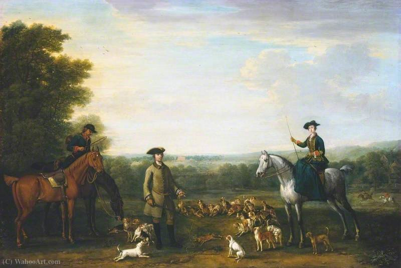 Lady Mary Churchill at the Death of the Hare by John Wootton (1682-1764, United Kingdom) | Painting Copy | WahooArt.com