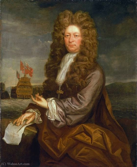 Fisher harding, master shipwright by Jonathan Richardson The Elder (1667-1745) | Art Reproduction | WahooArt.com