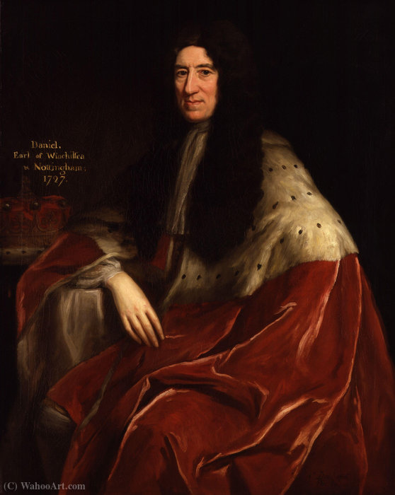 Portrait of Daniel Finch, 2nd Earl of Nottingham by Jonathan Richardson (1667-1745, United Kingdom)