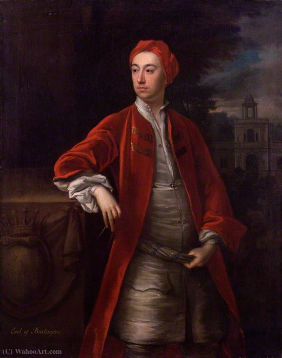 Portrait of Richard Boyle, 3rd Earl of Burlington by Jonathan Richardson The Elder (1667-1745) | Painting Copy | WahooArt.com