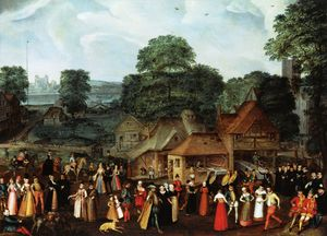Joris Hoefnagel (Georg Hoefnagel) - A Fête at Bermondsey or A Marriage Feast at Bermondsey.