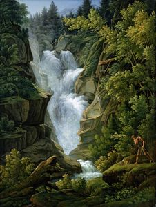 Joseph Anton Koch - Waterfall in the Bern Highlands