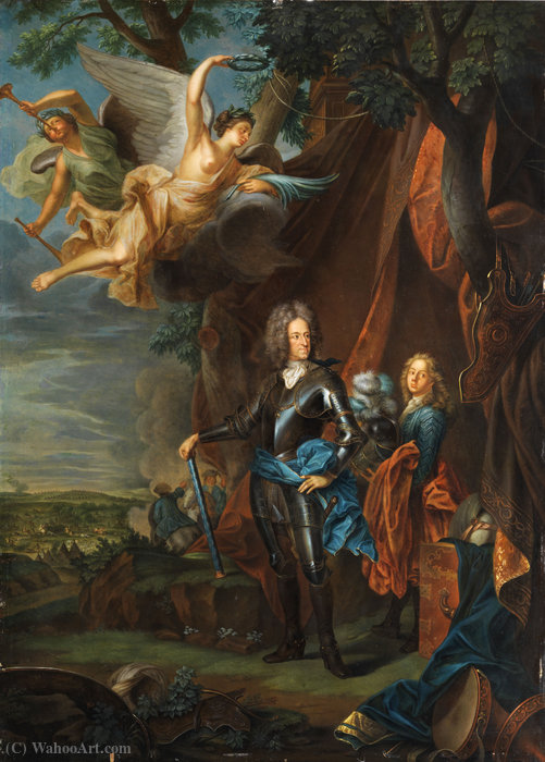 Portrait of Maximilian II Emanuel, Elector of Bavaria by Joseph Vivien (1657-1734, France)
