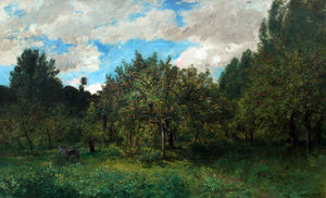 Karl Pierre Daubigny - French Orchard at Harvest Time