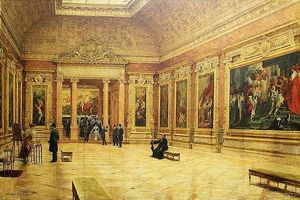Louis Beroud - Rubens room at the Louvre