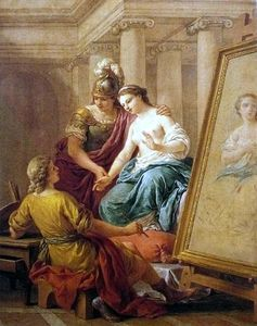 Louis Jean François Lagrenée - Apelles fell in love with the mistress of Alexander the Great
