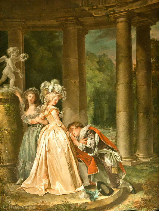 The Oath of love by Louis Rolland Trinquesse (1746-1799, France) | WahooArt.com