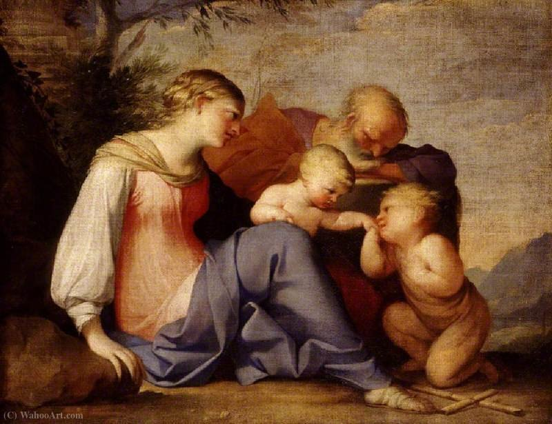 The Holy Family with the Infant Saint John the Baptist by Lubin Baugin (1612-1663, France)