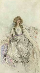 Mary L Gow - An elegant lady in an evening gown