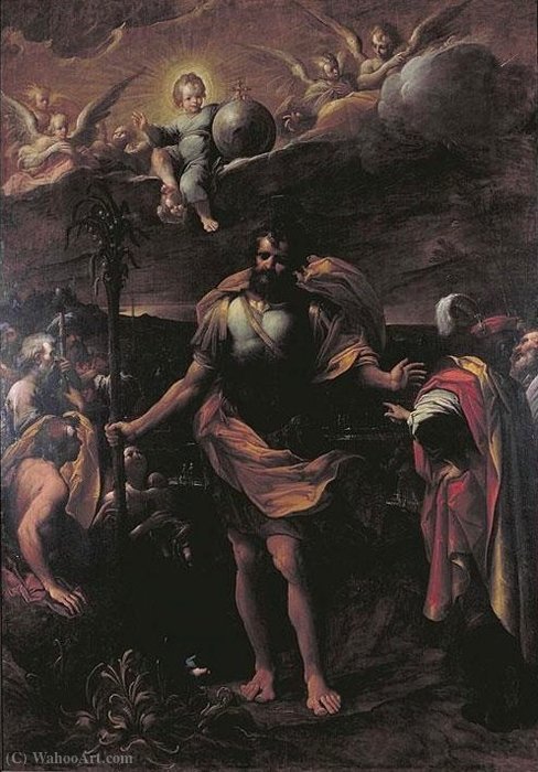 Preaching of San Cristobal by Mastelletta (1575-1655, Italy)