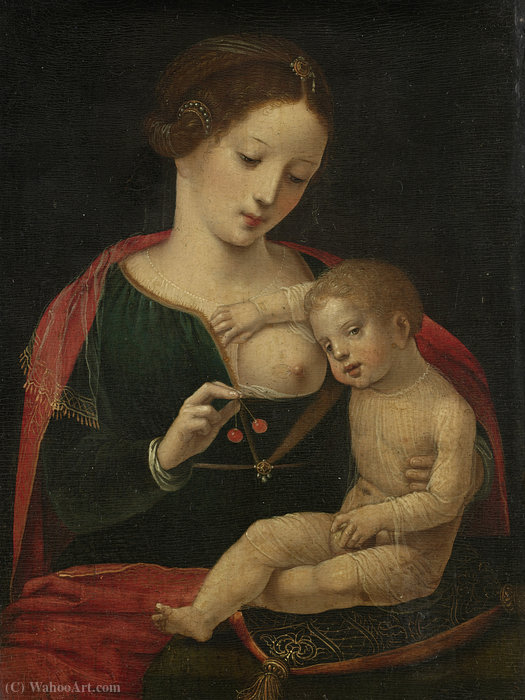 Maria met kind by Master Of Female Half Lengths | Museum Quality Reproductions | WahooArt.com