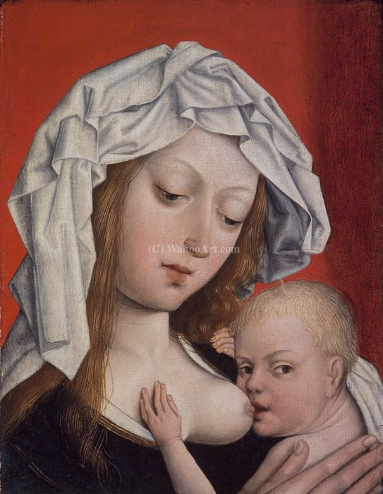 Madonna Nursing the Christ Child by Master Of Magdalen | Museum Quality Reproductions | WahooArt.com
