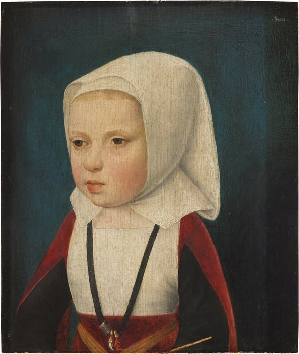 Portrait of an infant Princess, bust length, probably the Archduchess Isabella, daughter of Phillip the Fair and sister of Charles V. by Master Of Magdalen