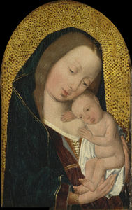 Order Art Reproduction : Virgin and Child by Master Of Magdalen | WahooArt.com