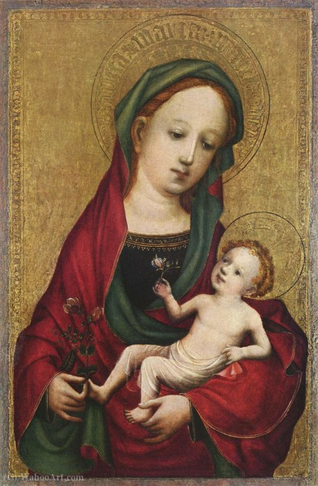 Madonna with the pea blossom by Master Of Saint Veronica