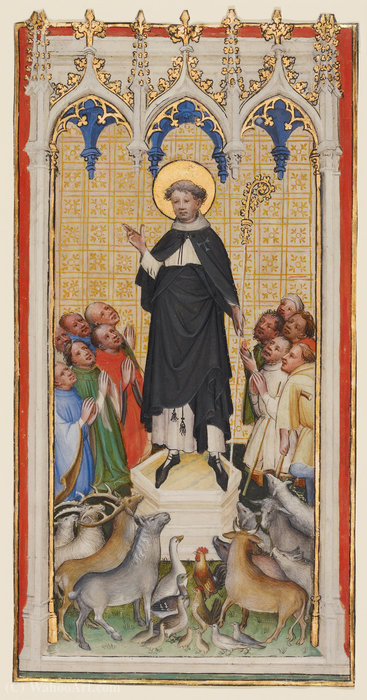 Order Art Reproduction : Anthony Abbot Blessing the Animals, the Poor, and the Sick by Master Of Saint Veronica | WahooArt.com