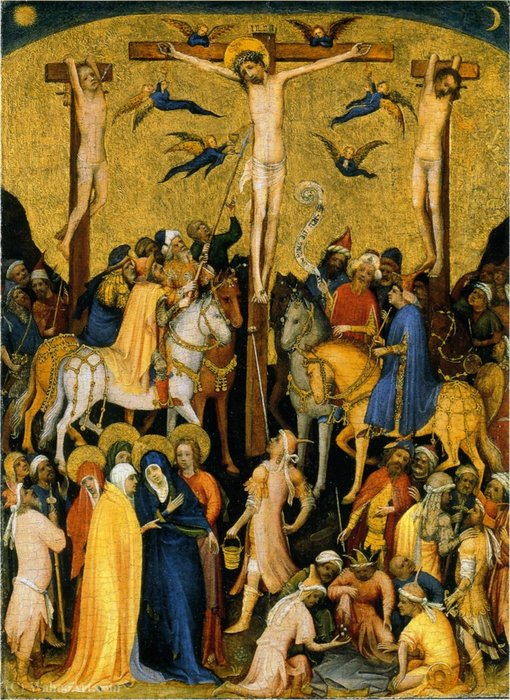 The small Calvary. by Master Of Saint Veronica | Painting Copy | WahooArt.com