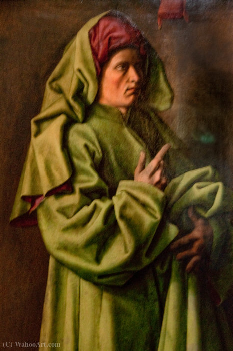 Prophet Isaiah d`Eijck (Collection 15th-17th centuries, room 5) The prophet Isaiah by Master Of The Aix Annunciation | Painting Copy | WahooArt.com