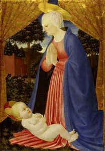 Master Of The Castello Nativity - Virgin Adoring the Child