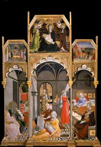Master Of The Osservanza - Birth of the Virgin with other Scenes from her Life