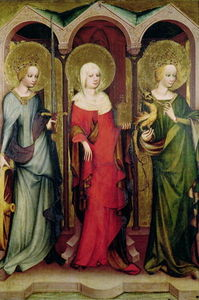 Master Of The Trebon Altarpiece - Saints Catherine, Mary Magdalene and Margaret